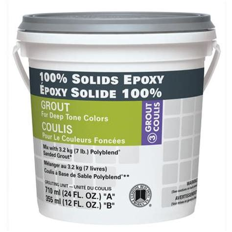 custom building products 100 solids epoxy grout