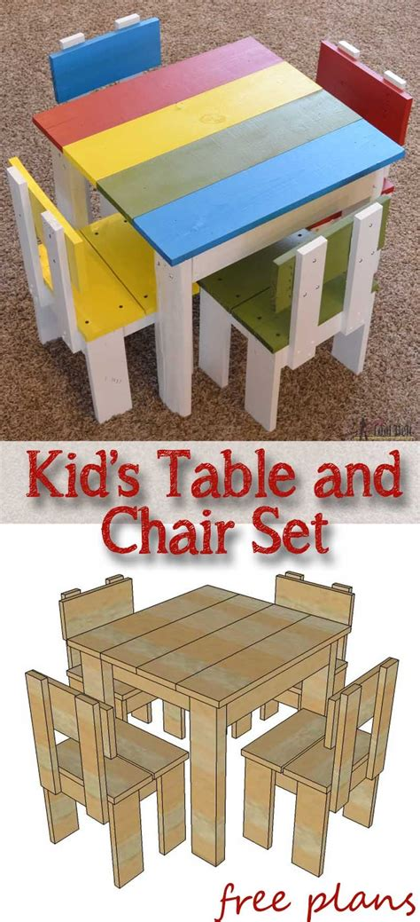 simple kids table  chair set woodworking kids