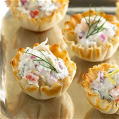 phyllo cup crab appetizers  cream cheese