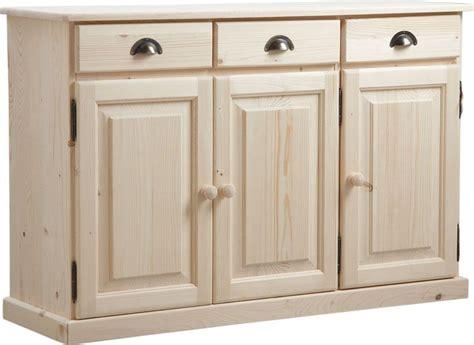 meuble cuisine 3 portes buffet 3 portes 3 tiroirs en bois brut