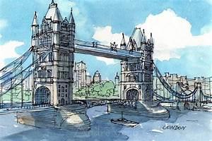 London Bridge Dessin : london tower bridge 2nd art print from an original wall pinterest dessin peinture and ~ Dode.kayakingforconservation.com Idées de Décoration