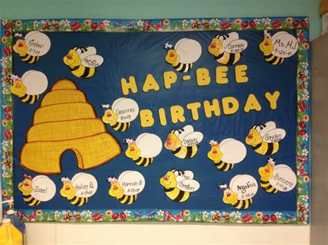 birthday bulletin board ideas for preschool hap bee birthday hive and boys and bees my 785