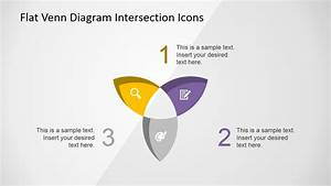 Flat Venn Diagram Intersection Icons