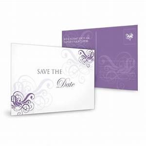 Save The Date Karte : save the date karte zur hochzeit in lila mit schn rkeln ~ A.2002-acura-tl-radio.info Haus und Dekorationen