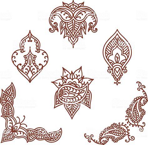 mehndi designs stock illustration now istock
