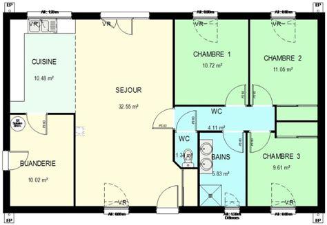une chambre en ville construction 86 fr gt plan maison ossature bois plain pied