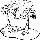 Coloring Palm Trees Tree sketch template