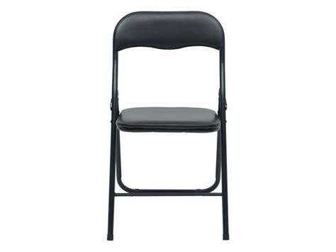 conforama chaise pliante chaise pliante breva coloris noir vente de table et