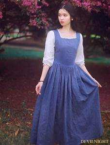 My Clothing Size Chart White And Blue Vintage Medieval Inspired Dress