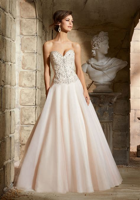 Crystal Beaded Embroidery On Tulle Morilee Bridal Wedding