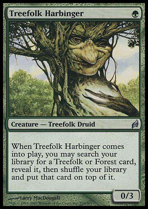 Treefolk Deck Tapped Out treefolk harbinger mtg card