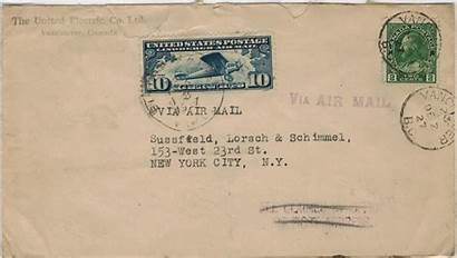 Air Mail Letter Canada Postage States United