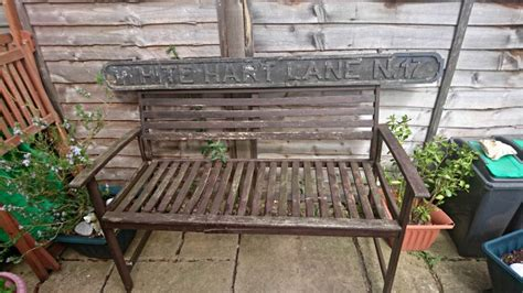 shabby chic garden bench take a look at this white hart lane shabby chic garden bench