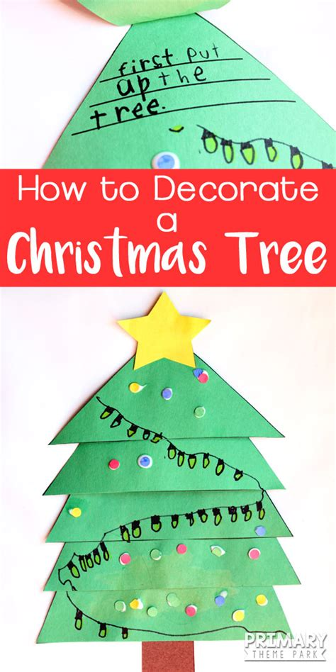 decorate  christmas tree writing activity
