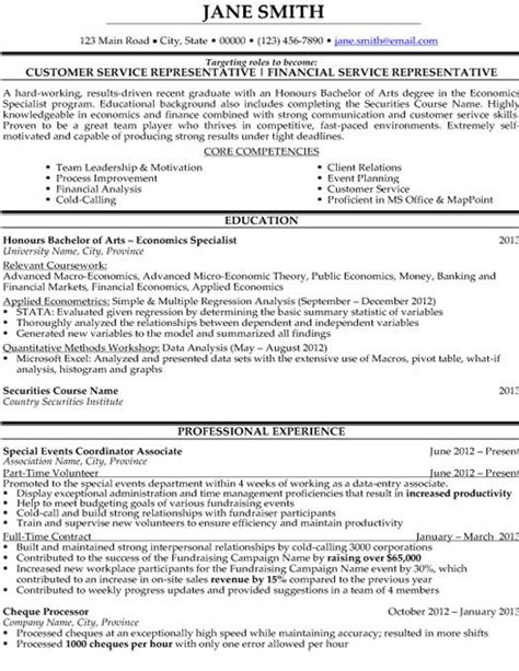 8 bank customer service representative resume sle