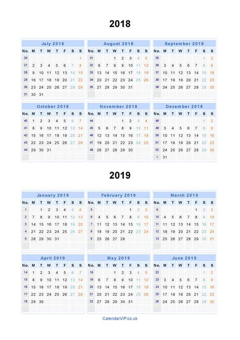 split year calendars calendar july june