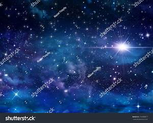 Beautiful Background Of The Night Sky With Stars Stock ...