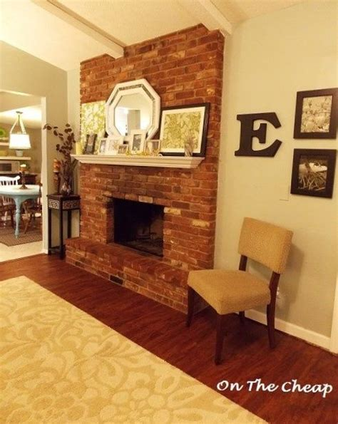 white mantel red brick fireplace   drill   brick