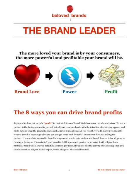 The 8 Ways For Brands To Drive Profit