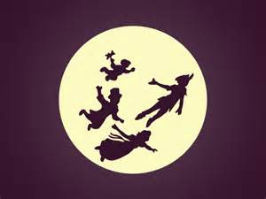Peter Pan Moon Silhouette