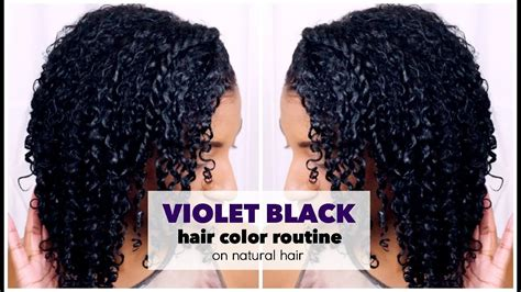 How To Dye Natural Hair Violet Black At Home W/ No Damage