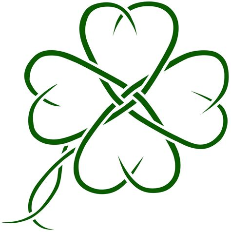 leaf clover outline   clip art