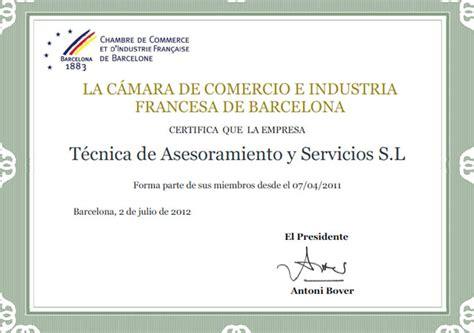 chambre de commerce de adresse chambre de commerce et d 39 industrie française à barcelone