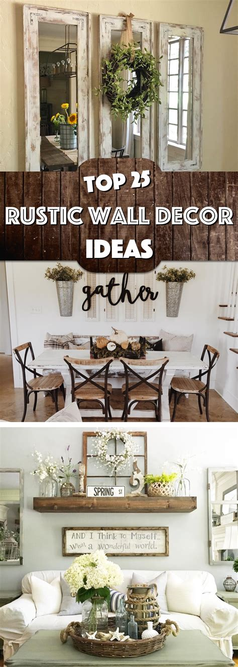kitchen wall decor 25 must try rustic wall decor ideas featuring the most Rustic