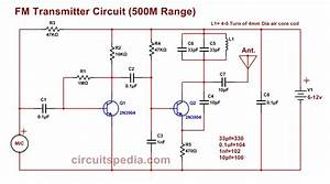 Easy Fm Transmitter Circuit  500m Simple And Best Fm