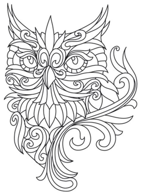 baroque owl urban threads unique  awesome embroidery designs