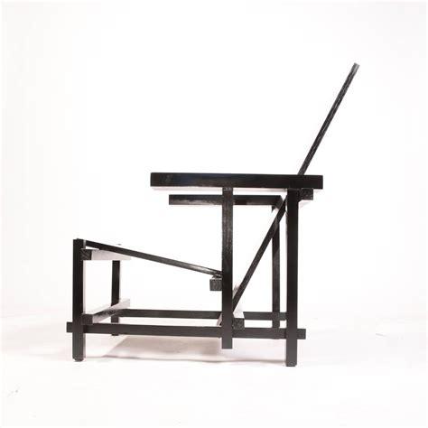 vintage gerrit rietveld chair in black for sale at 1stdibs