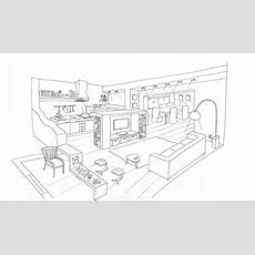 Interior Design Coloring Pages  Fun For Practicing