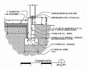 Foundation Footing Detail Drawings