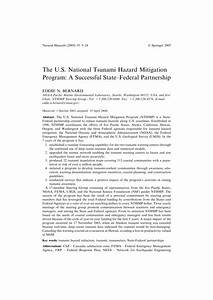 (PDF) The U.S. National Tsunami Hazard Mitigation Program ...