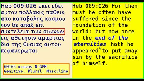 aionios  greek word translated  eternal