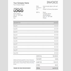 Invoice With Sales Tax  Office Templates
