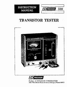 Bk 501a Curve Tracer Service Manual Free Download