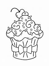 Cupcake Coloring Pages Birthday Printable Bright Choose Colors Favorite sketch template