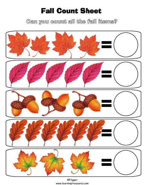 fall math worksheets for preschool fall math addition coloring pages