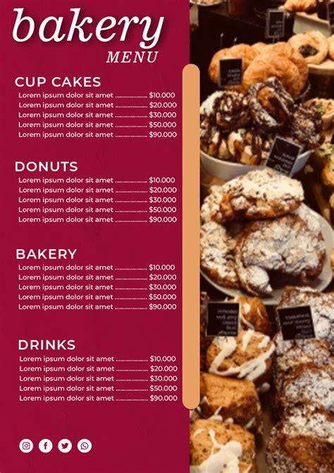 10+ Bakery Menu psd template free - Apparel Dream Inc
