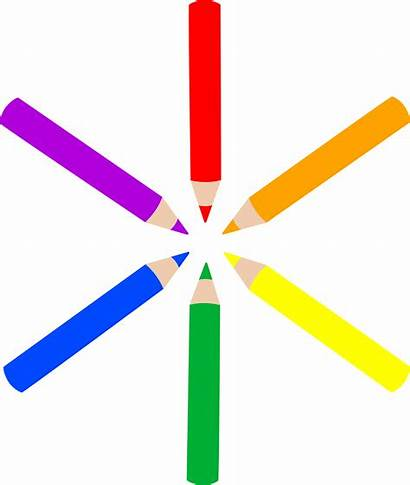 Pencil Clip Clipart Pencils Colored Pattern Drawing