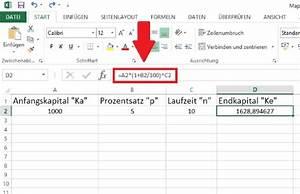 Excel Tabelle Summe Berechnen : zinseszins mit excel berechnen so geht die formel chip ~ Themetempest.com Abrechnung