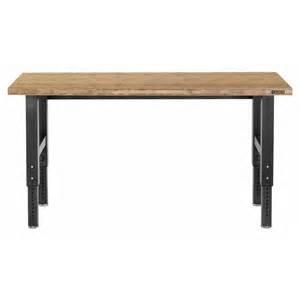 Kobalt Reloading Bench by Shop Gladiator 42 In Adjustable Wood Work Bench At Lowes Com