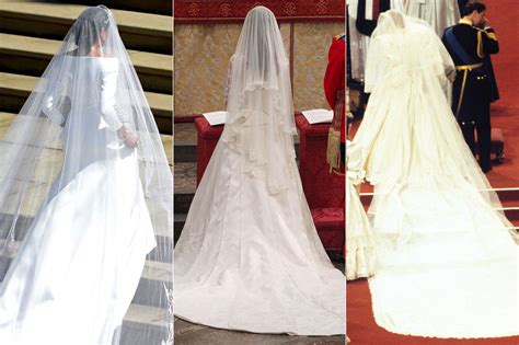 Kates Wedding Dress : How Meghan Markle, Kate Middleton And Princess Diana's