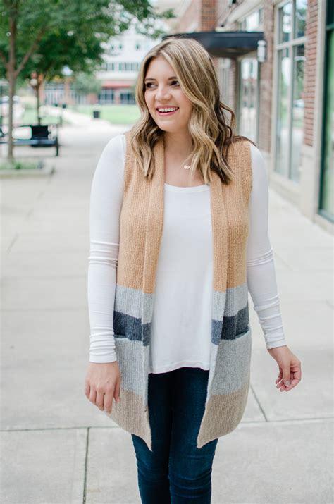 Long Sweater Vest Outfit By Lauren M