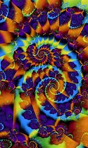 Abstract multicolor fractals psychedelic wallpaper ...