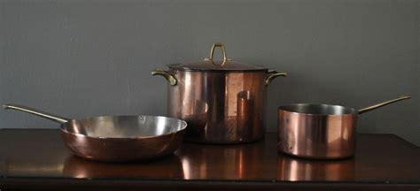 vintage  paul revere signature copper  qt pot large skillet  qt pan   sell