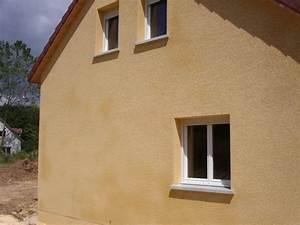 Enduit finition ecrasee pour facades mur exterieur muret for Enduit de finition exterieur