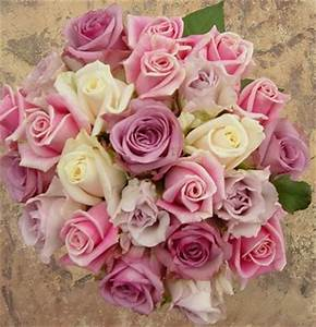 blush pink and light purple with cream roses wedding ...