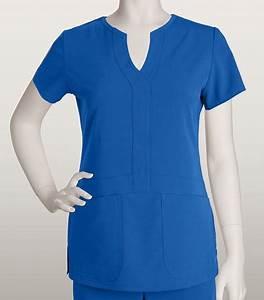 Grey's Anatomy Signature 2 Pocket Fashion Notch Neck Top ...